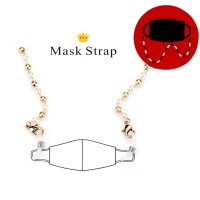 Precious Pearly Link Mask Holder Necklace