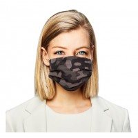 Edgy Camouflage Print Pleated 100% Cotton Fashion Mask