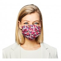 Romantic Flower Print Pleated 100% Cotton Fashion Mask
