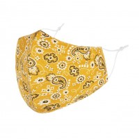 Romantic Paisley Print 100% Cotton Fashion Mask