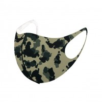 Edgy Camouflage Print Fashion Mask