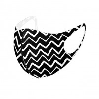 Modern Black White Chevron Print Fashion Mask