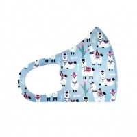 Little Llama Light Blue Kids Fashion Mask