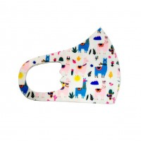 Little Llama White Kids Fashion Mask