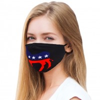 Patriotic Donkey Print 100% Cotton Fashion Mask