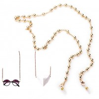 Versatile Gold Beads Link Mask Holder Necklace