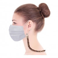 Classic Leopard Tortoise Chain Mask Holder Strap