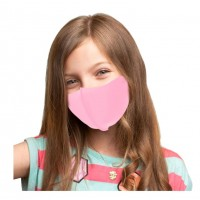 Soft Solid Pink Kids Fashion Mask