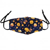 Halloween Jack-O-Lantern & Lollipops Cauldron Cotton Kids Fashion Mask