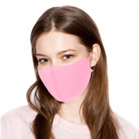 Romantic Soft Solid Pink Fashion Mask