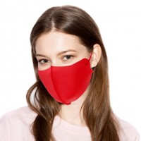 Vibrant Soft Solid Red Fashion Mask