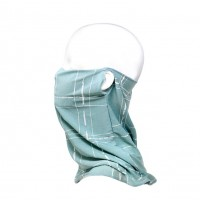 Mint Geometric Face Tube Mask Scarf