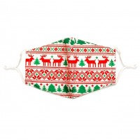 Red & Green Rudolph Cotton Fashion Mask
