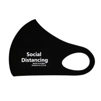 Black Social Distancing Fashion Mask
