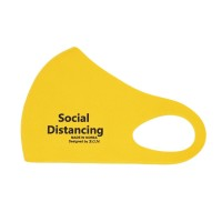 Yellow Social Distancing Fashion Mask