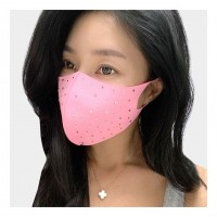 Dazzling Pink Rhinestone Aerosilver Fashion Mask