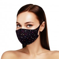 Dazzling Multi Color Bling Bling Stone Embellished Fashion Mask