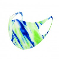Vibrant Mint Green Water Color Print Fashion Mask