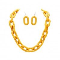 Sunny Yellow Chain Link Necklace