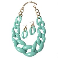 Oval Chunky-Link Statement Necklace