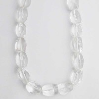 Jumbo Clear Crystal Nugget Necklace