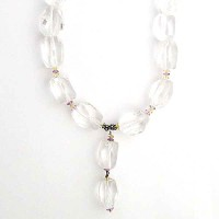 Jumbo Clear Crystal Drop Necklace