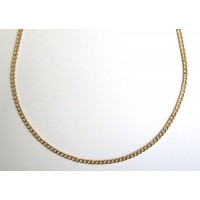 "Glittering Gold Filled 17 1/4"" Link Necklace"