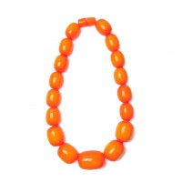 Handcrafted Amber Honey Jumbo Oval Statement Necklace