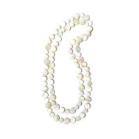 "Pearly White 50"" Mother- Of- Pearl Double Strands Necklaces"