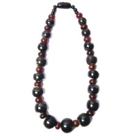 Handcrafted Brown Bone Wood Horn Tribal Statement Necklace