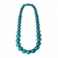Handcrafted  Teal Blue Round Statement Necklace