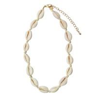 Puka Seashell Gold Choker Statement Necklace