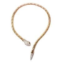 Glittering Snake Collar Necklace
