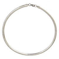 Sterling Silver Snake Round Chain Necklace