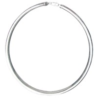 Italian Sterling Silver Snake Round Chain Necklace