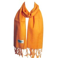 ORANGE COLOR 100% PASHMINA SCARF