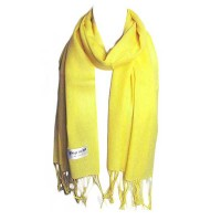 YELLOW COLOR 100% PASHMINA SCARF