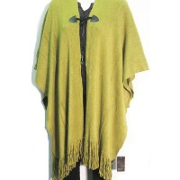 Soft Moss Green Blanket Wrap Sweater Poncho Tunic