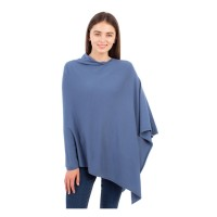 Luxurious Light Weight Cashmere Light Blue Poncho
