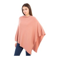 Luxurious Light Weight Cashmere Pink Poncho