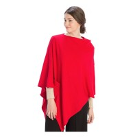 Luxurious Light Weight Cashmere Red Poncho