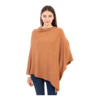 Luxurious Light Weight Cashmere Tan Poncho