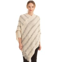 Luxe Cream Pearly Sleeve Poncho