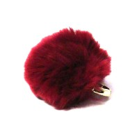 Eye Catching Burgundy Pom Pom Ring