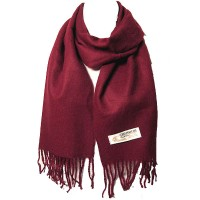 LUXURIOUS BURGUNDY 100% CASHMERE SCARF