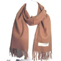 LUXURIOUS MOCHA BROWN 100% CASHMERE SCARF