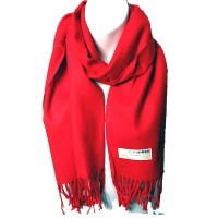 LUXURIOUS RED 100% CASHMERE SCARF