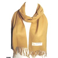 LUXURIOUS TAN 100% CASHMERE SCARF