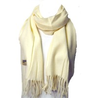 LUXURIOUS WHITE 100% CASHMERE SCARF