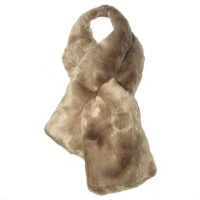 Luxe Soft Light Taupe Faux Fur Scarf